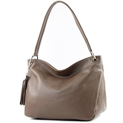 Shoulder Brown modamoda Bag Case Pale de Leather Genuine T154 ital Bag Shoulder Leather YqC7Y