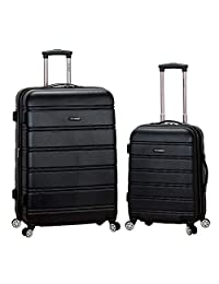 Rockland 2-Piece Expandable Spinner Set, Black, 20-Inch/28-Inch