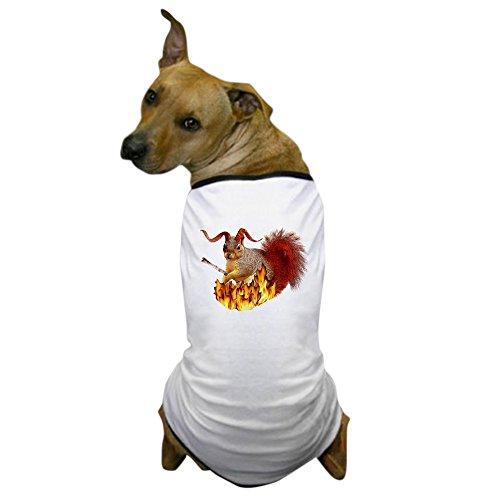 CafePress - Krampus Squirrel Dog T-Shirt - Dog T-Shirt, Pet Clothing, Funny Dog Costume ()