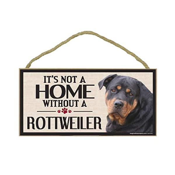 Imagine This Wood Sign for Rottweiler Dog Breeds 1