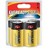 Eveready Gold Alkaline Batteries D, 4 Pack by Eveready