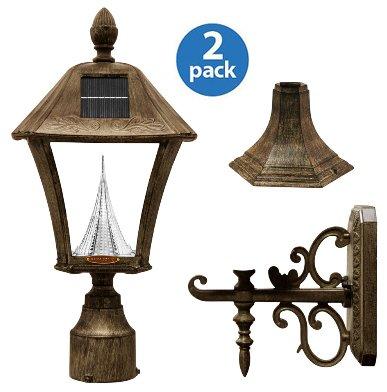 Outdoor Post Light Fitter Kit - 6