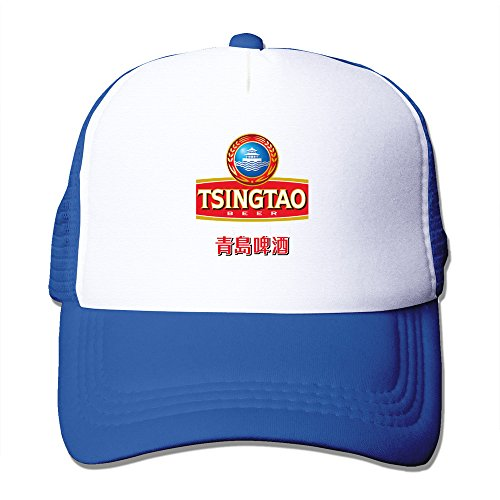 cool-chinese-tsingtao-beer-logo-trucker-mesh-baseball-cap-hat-one-size-royalblue
