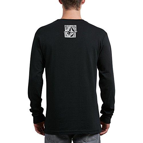 Volcom Men's Edge Long Sleeve Tee, Black, S - Edge Long Sleeve Tee