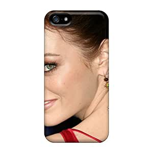 Top Quality Case Cover For Iphone 5/5s Case With Nice Emma Stone In Zombieland Appearance
