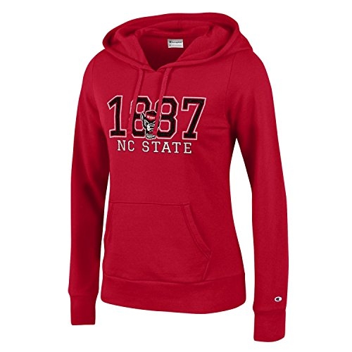 Champion NCAA Women's Comfy Fitted Sweatshirt University Fleece Hoodie NC State Wolfpack Small ()