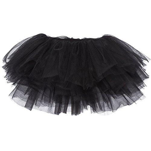 My Lello Baby Tutu Short Ballet Skirt 10-Layer (Newborn - 3mo.) Black]()