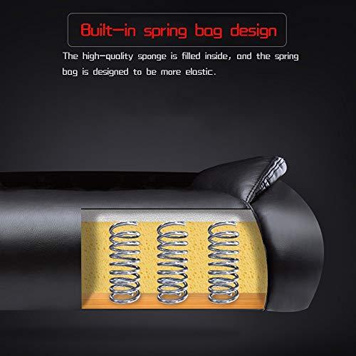 Liggande högrygg PU-läder spelbordsstol dubbel tjock kudde verkställande och ergonomisk svängbar stol bärkapacitet: 150 kg (storlek: Utan fotstöd)
