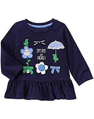 Baby Girl's Spring Is Here Peplum Top 6-12 Months