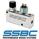 Eckler's Premier Quality Products 80-288447 Proportioning Valve, SSBC, Adjustable, Brake Light Switch, Polished