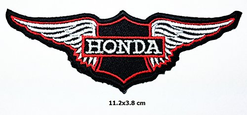 Honda White Wing Patch Motorcycle Biker Patch Logo Vest Jacket Hat Hoodie Backpack Patch Iron (Honda Logo Patch)