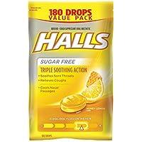 180-Count Halls Sugar-Free Cough Drops (Honey Lemon)