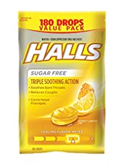 Halls Sugar Free Cough Suppressant, Hone...