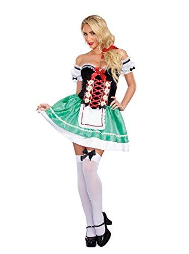 Dreamgirl Women's Bavarian Babe Costume, Multi, Large