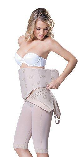 Fajitex Lipo Board Fajas Colombianas Tabla Abdominal FLATTENING Liposuction  Abdomen Support Board Post Surgery Strip 025170, Beige, (L, XL)