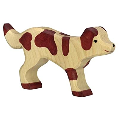 Holztiger Farm Dog Toy Figure: Toys & Games