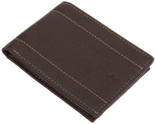 Columbia Mens Traveler Wallet, Brown, One Size (Tray Brown Mens Wallets)