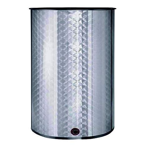 Deposito Barril de vino floreado INOX 304 cierre aceite 150L
