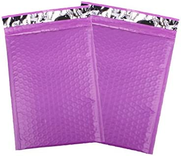 50 PCS Foriji #000 4 x 8 Bubble Mailers Padded Envelopes Purple Poly Bubble Mailing Envelope Shipping Bags Self-Sealing 50 Pack