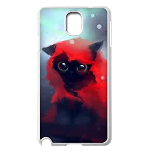 ZHANG customized Cat for Samsung Galaxy Note 3 Case Note 3-N9000-Black & white