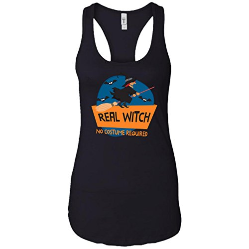 Real Witch No Costume Required Funny Witch, Racerback Tank Tops for Women