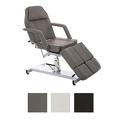 CLP Fauteuil de massage SPLIT réglable avec accoudoirs démontables, Chaise de massage, Fauteuil esthétique gris