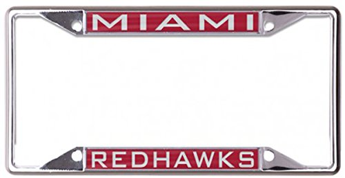 - Wincraft Miami University of Ohio Redhawks Premium License Plate Frame, Metal with Inlaid Acrylic, red