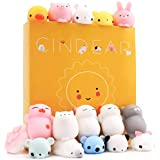 CINDEAR Squishy Toys,16 Pcs Mini Kawaii Squishies Mochi Animals Stress Toys,Random Color,Gift Box Packing,Stress Reliever Anxiety Toys For Children Adults