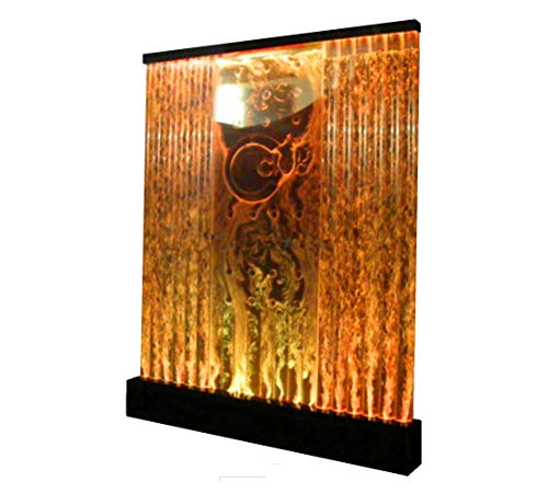 Fountain Floor Water Panel (6.5' x 6.5' LED Full Color Bubble Wall Water Fountain Panel Restaurant)