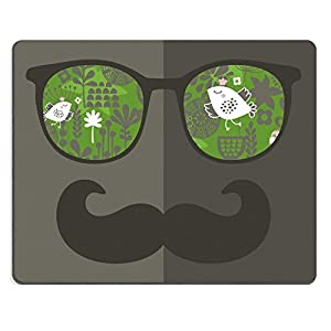 MSD Natural Rubber Gaming Mousepad IMAGE ID: 27886528 Retro sunglasses with reflection for hipster Vector illustration of accessory glasses isolated Best print for eyeglasses advertisement