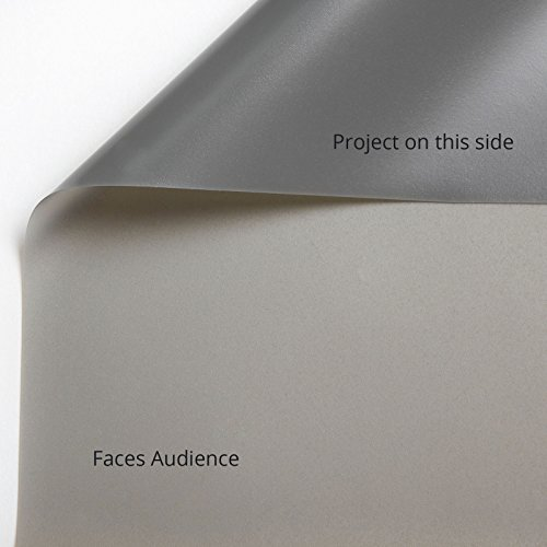 Carls Gray Rear Projection Film (16:9 | 105x187 | 214-in | Folded) Grey Rear Projection Material, Rear Projection Screen Material, Rear Projection Projector Screen, Translucent Projection Fabric by Carls Place (Image #2)