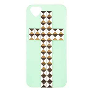 Fashion Cross Pyramid Studs Punk Spikes Case Cover For iphone 5 5S Green