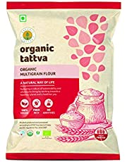 Organic Tattva Organic Whole Wheat Flour, Chakki Atta, 1kg