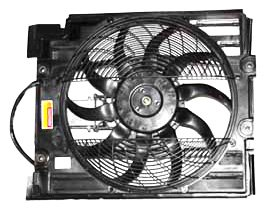 TYC 611240 BMW 5 Series Replacement Condenser Cooling Fan Assembly