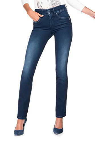 Salsa - Jeans Push In Secret jambe slim avec dtail fermetures clair - Femme Bleu