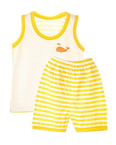 WantDo Newborn Comfortable Sports 2 Piece Sets Yellow 6-9Months