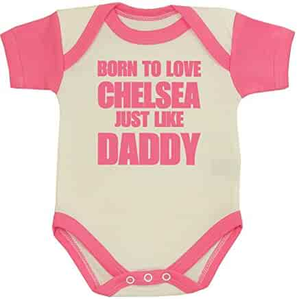 992a4dc40bde BabyPrem Baby One-piece Clothes Born to Love Chelsea Like Daddy NB-12 MTH