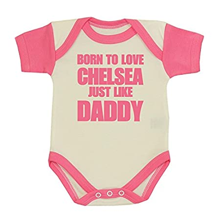 Babyprem Baby Bodysuit Clothes Born to Love Chelsea Like Daddy NB-12 MTH 41NTUMKr1YL