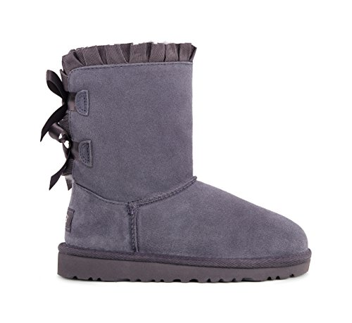 Blue Bailey Bow Ugg Boots - UGG Kids Girls' Bailey Bow Ruffles
