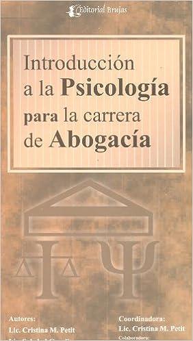 Introduccion a La Psicologia Para La Carrera De Abogacia: Soledad Graglia Cristina Petit, brujas: 9789879452929: Amazon.com: Books