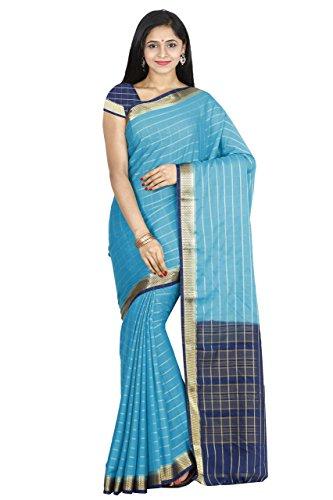 arars Women's Crepe Silk Saree Mysore Silk Saree Free Size Rama
