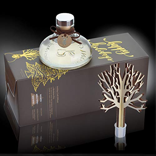Aronica Fragrance Reed Diffuser Box for Home and Spa - | 4.05oz (120ml) | Premium Scent | Wood Craft Set | Vanilla | Mistletoe Kiss