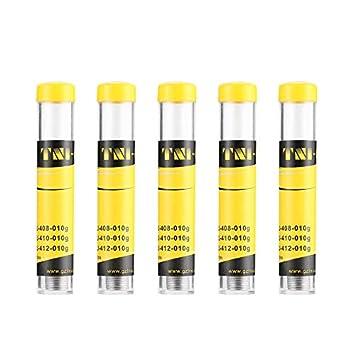 Newgreen - Juego de 5 bolígrafos de alambre de estaño para soldar y reparar mechas de