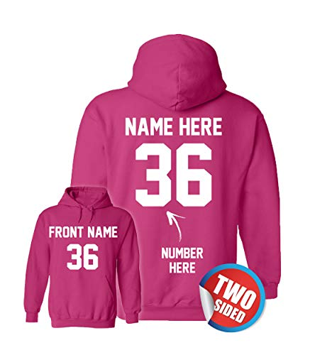 Personalized Pink Hoodys - Custom Hoodies & Pullover Sweatshirts for Softball