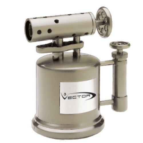 Vector Gunmetal MegaPump Table Top Torch Cigar Lighter Mega Pump by Vector