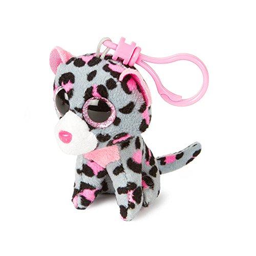 "Claire's Accessories Ty Beanie Boos Tasha the Leopard Plush Clip On - 3 1/2"""