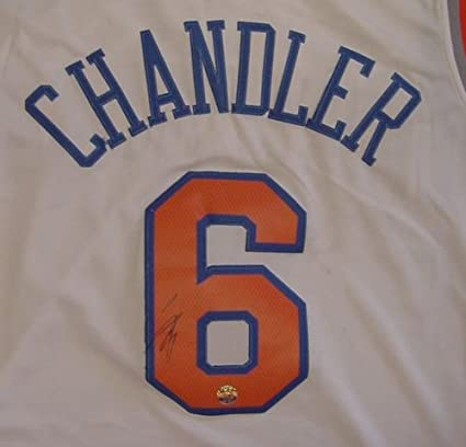 Tyson Chandler New York Knicks Autographed White  6 Jersey at ... 61e28a87d
