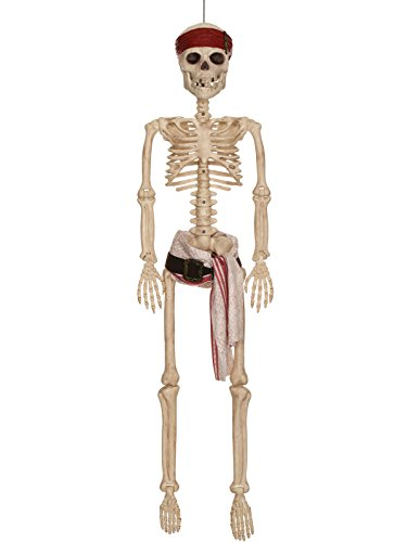 Disney Pirates of the Caribbean Jack Sparrow Pirate Skeleton, (Halloween Jack In The Box Prop)