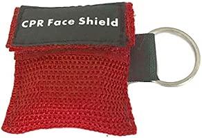 MEXCO 2 Unids Portátil Primeros Auxilios Mini CPR Llavero Máscara/Escudo Facial Kit de Barreras Máscaras para el Cuidado de la Salud 1- Válvula Way ...