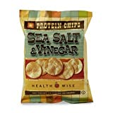 Healthwise Sea Salt & Vinegar Protein Chip (a serving of 1.2 oz) - High Protein Sea Salt & Vinegar Flavored Chip